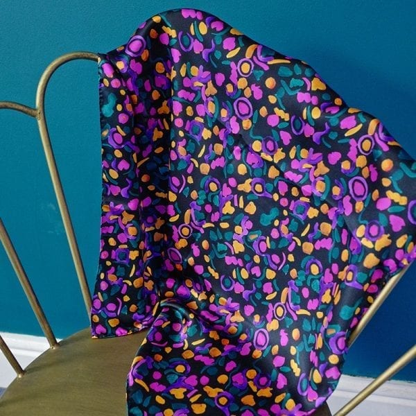 Abstract Butterfly Silk Scarf