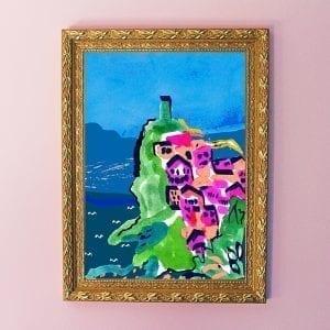 Blue Cinque Terre Art Giclée Print