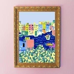Cinque Terre Art Giclée Print
