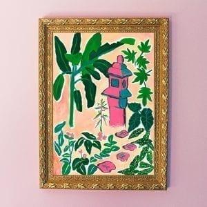 Japanese Garden Art Giclée Print