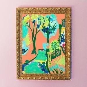 Summer Italian Villa Art Giclée Print