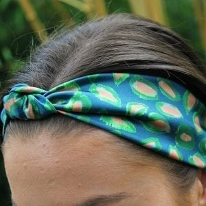 Blue Abstract Leaf Headband